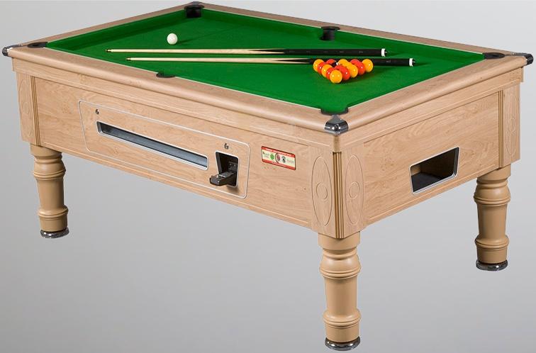 Supreme Prince Pool Table in Oak Finish