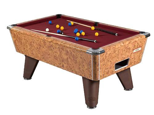 Supreme Winner Pool Table in Amberwood Finish