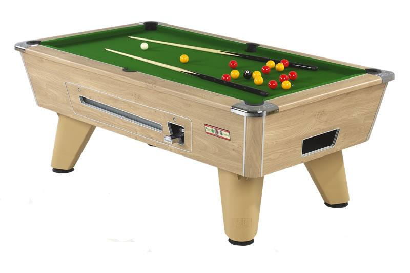 Supreme Winner Pool Table in Oak Finish