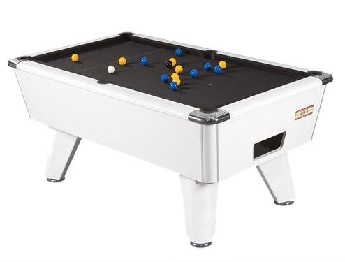 Supreme Winner Pool Table in White Finish