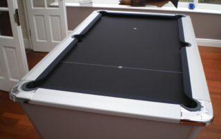 Supreme Winner Pool Table Aluminium Finish Black Cloth