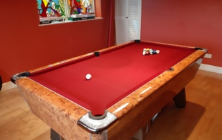 Supreme Winner Pool Table Amberwood Red Cloth