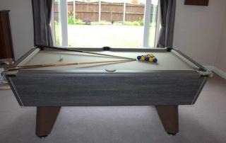 Supreme Winner Pool Table Rustic Finish Grey Cloth