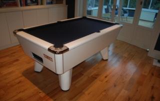 Supreme Winner Pool Table White Finish with Marine Cloth