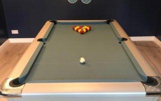Supreme Winner Pool Table Simonis Tournament Light Blue Cloth
