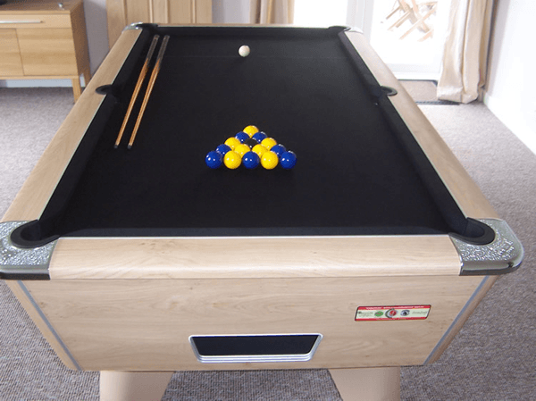 Winner Pool Table ion Oak Finish with Black Cloth