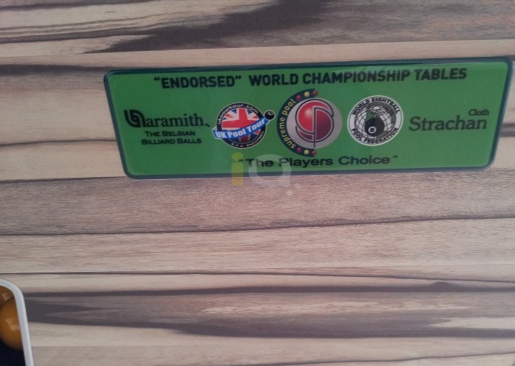 Artwood Winner Pool Table Close Up