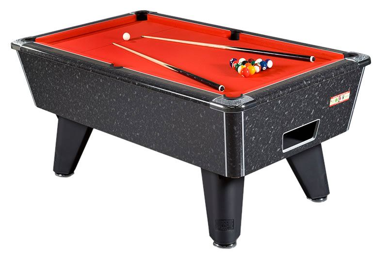 Black marble High Gloss Supreme Winner Pool Table