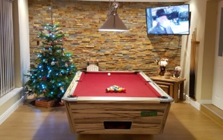 Supreme Winner Pool Table Artwood Finish Red Cloth