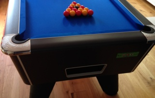 Supreme Winner Pool Table Black Finish with Blue Cloth