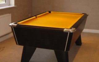 Supreme Winner Pool Table Black Finish with Gold Cloth