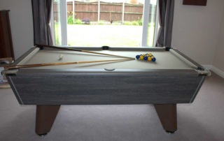 Supreme Winner Pool Table Rustic Finish Grey Cloth