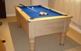 Supreme Prince Pool Table Oak Finish Blue Cloth