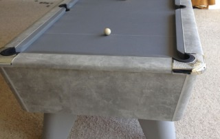 eme Winner Pool Table Italian Grey Finish with Grey Cloth