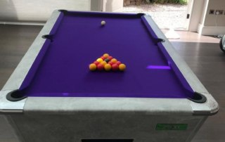 Supreme Winner Pool Table Italian Grey Finish with Purple Cloth