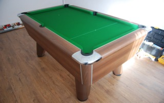Supreme Winner Pool Table Walnut Finish with Green Cloth