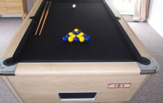 Supreme Winner Pool Table Oak Finish with Black Cloth